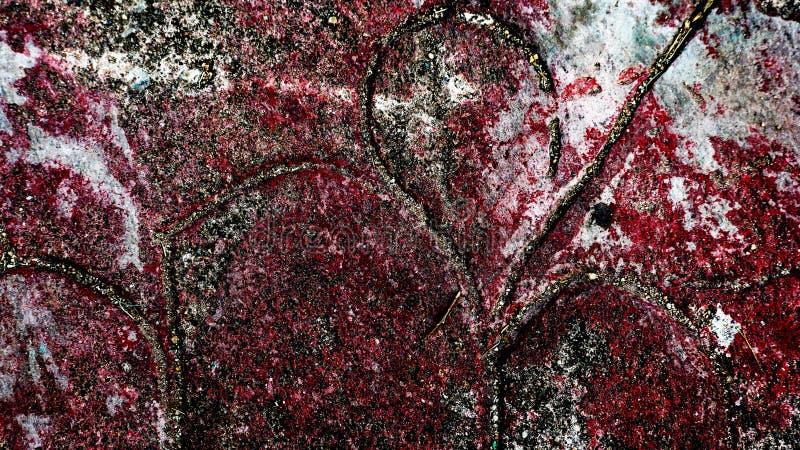 Macchie rosse sulla parete fotografia stock