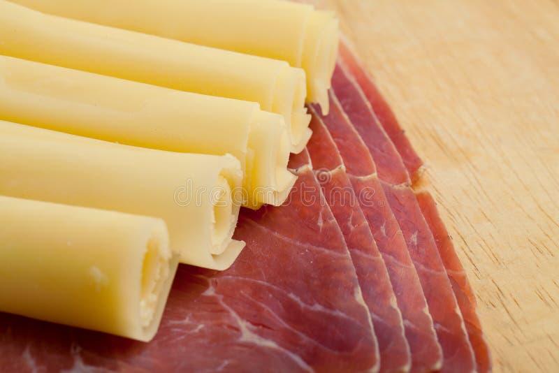 Macchietta e formaggio italiani fotografia stock