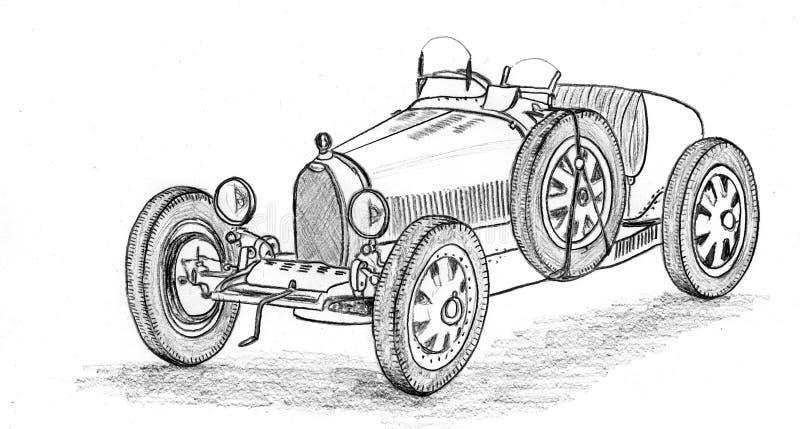 Macchina da corsa d'annata illustrazione vettoriale