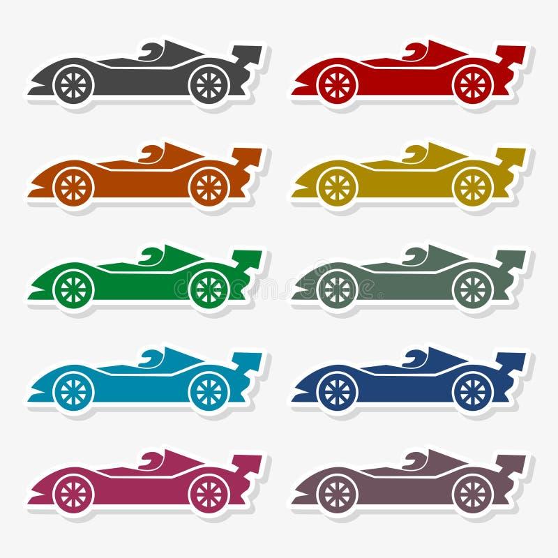 Macchina da corsa - illustrazione illustrazione di stock