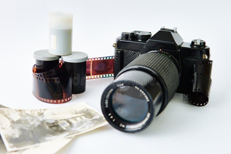 Macchina da presa e film fotografia stock