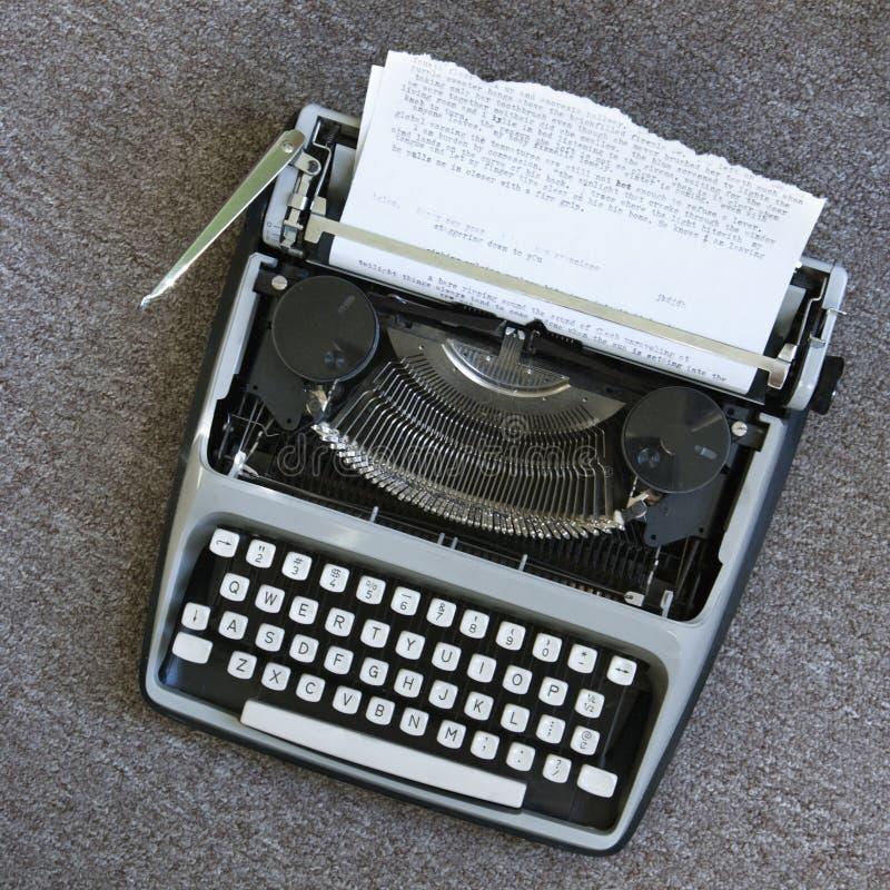 Macchina da scrivere. fotografia stock