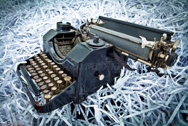 Macchina da scrivere antica, retro stile. fotografia stock