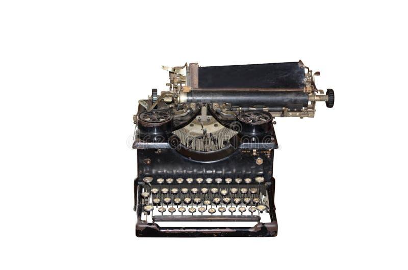 Macchina da scrivere dell'annata isolata su bianco immagine stock