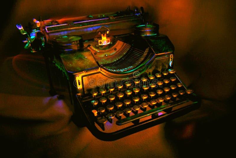 Macchina Da Scrivere Nera Antica Fotografie Stock