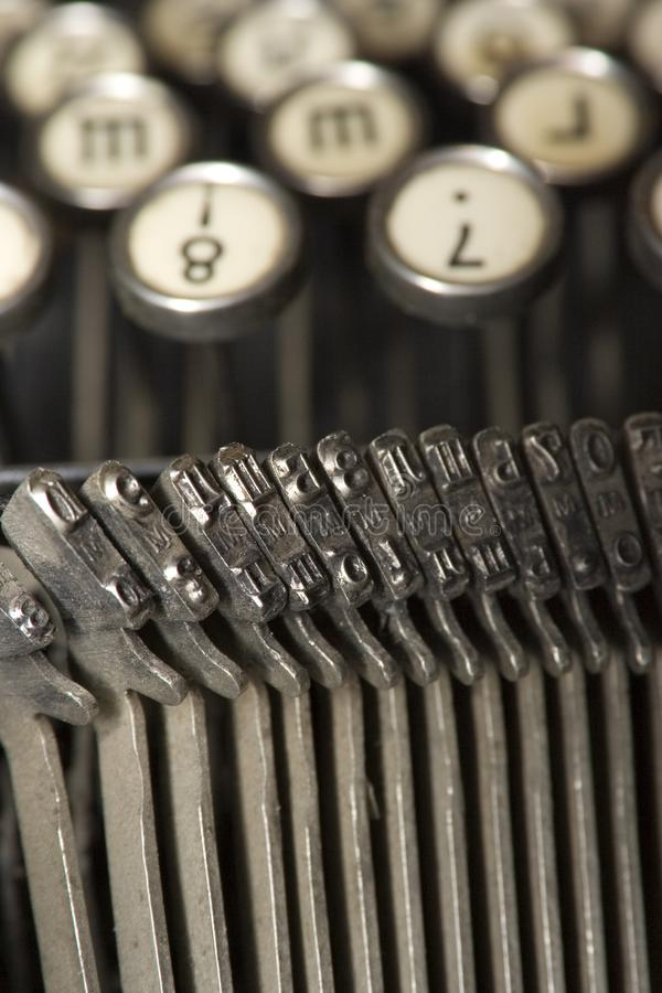macchina da scrivere come terrena immagine stock libera da diritti