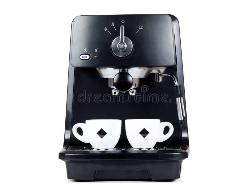 Macchina del caffè espresso che fermenta un caffè espresso del caffè fotografia stock