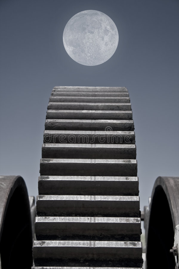Macchina della luna fotografia stock libera da diritti