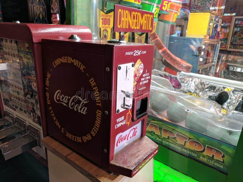 Macchina di cambiamento del coke immagine stock libera da diritti