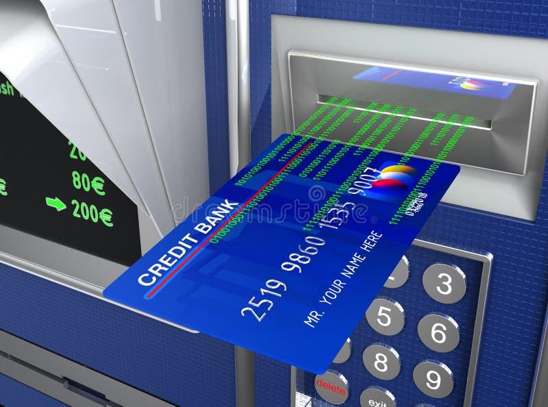 Macchina di contanti e commercio elettronico illustrazione vettoriale