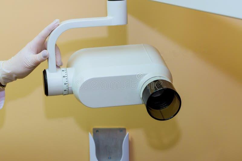 Macchina di raggi x nella clinica dentaria fotografie stock