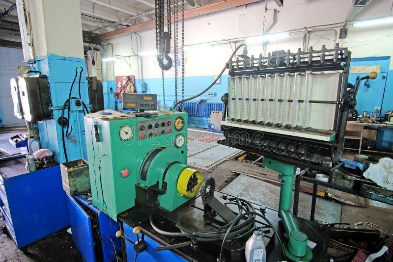 Macchina diesel di sistema diagnostico e di riparazione dell'iniettore fotografia stock