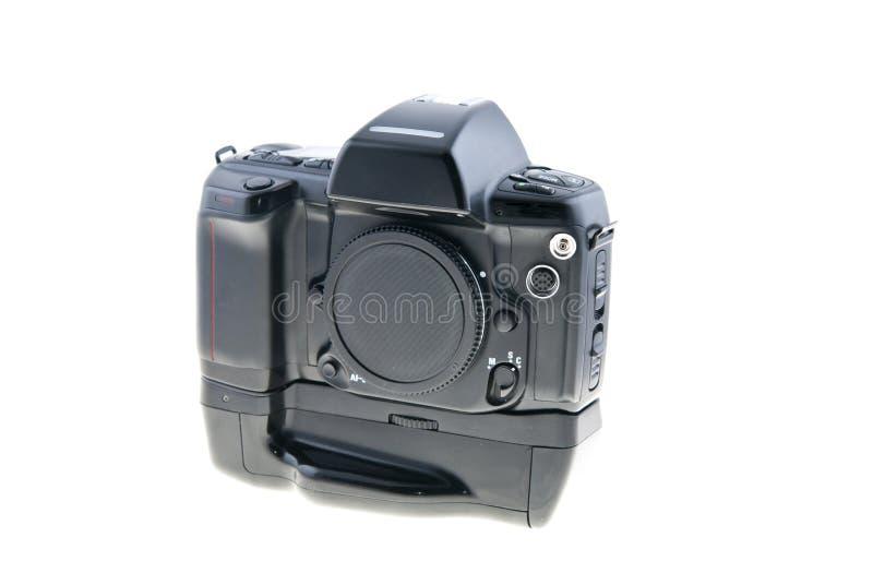 Macchina fotografica Analog della foto su bianco fotografia stock libera da diritti