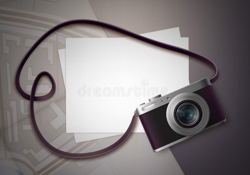 Macchina fotografica compatta della foto illustrazione vettoriale