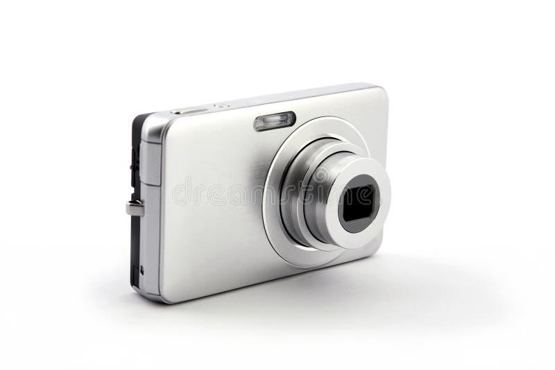 Macchina fotografica compatta digitale d'argento della foto fotografia stock libera da diritti