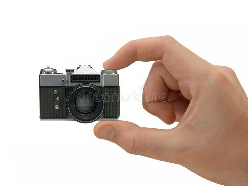 Macchina fotografica compatta eccellente a disposizione fotografie stock
