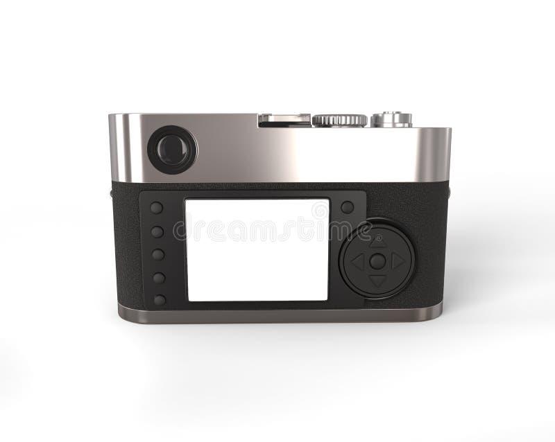 Macchina fotografica compatta - vista posteriore immagini stock
