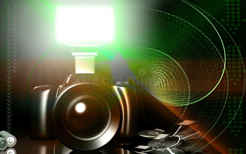 Macchina fotografica con la torcia elettrica royalty illustrazione gratis