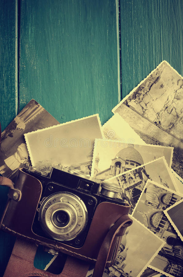 Macchina fotografica d'annata della foto immagini stock libere da diritti