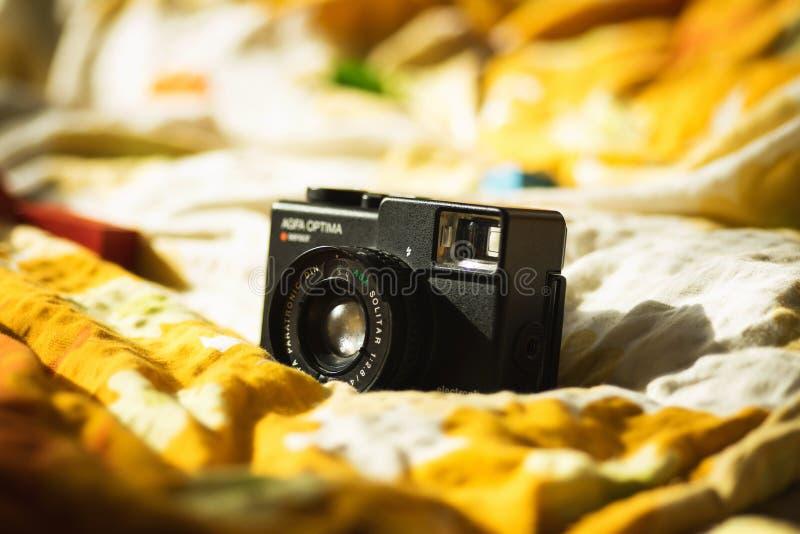 Macchina fotografica d'annata elettronica del sensore di optimum di Agfa retro immagini stock libere da diritti