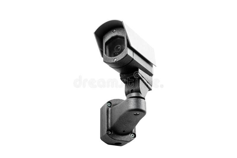 Macchina fotografica del CCTV sui precedenti bianchi immagini stock
