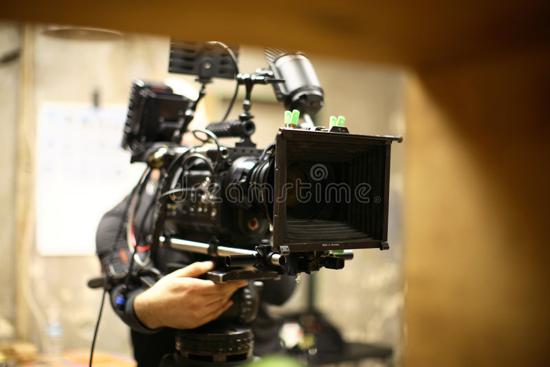 Macchina fotografica del cinematografo di Digitahi immagini stock libere da diritti