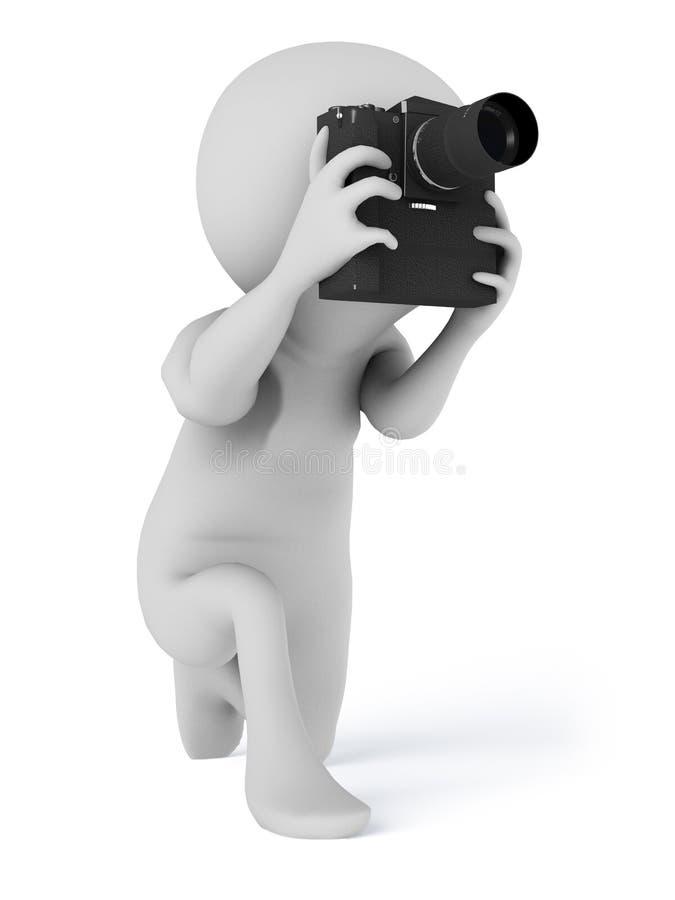 Macchina fotografica del fotografo che prende le fotografie royalty illustrazione gratis