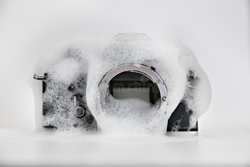Macchina fotografica del lavaggio fotografia stock libera da diritti
