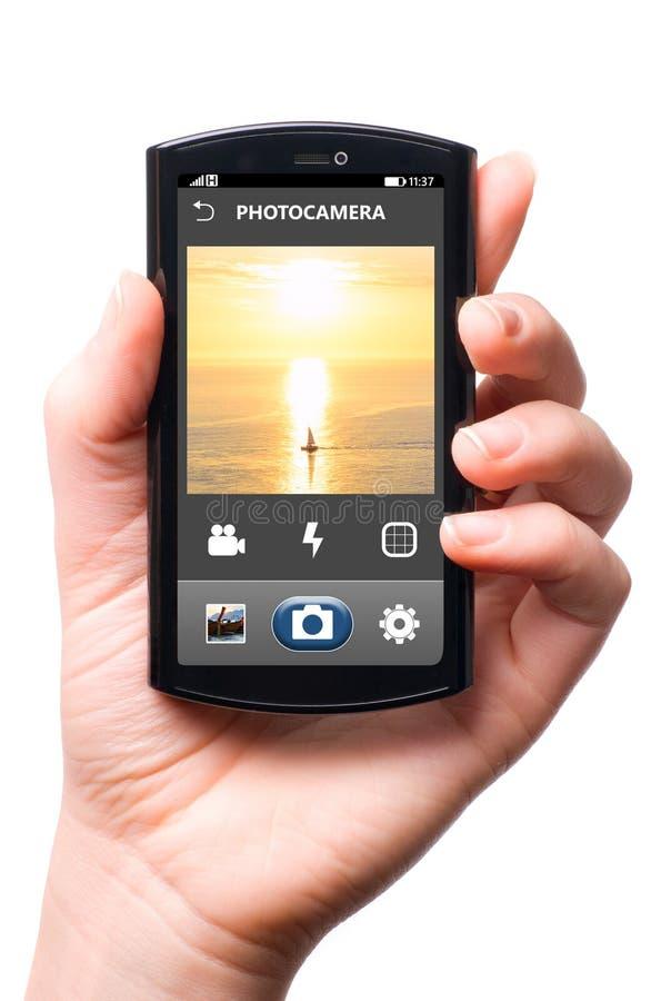 Macchina fotografica del telefono immagine stock libera da diritti