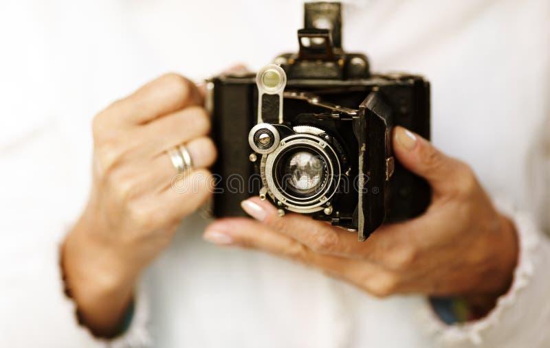 Macchina fotografica dell'annata fotografie stock libere da diritti