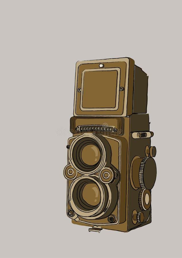 Macchina fotografica dell'annata fotografia stock libera da diritti