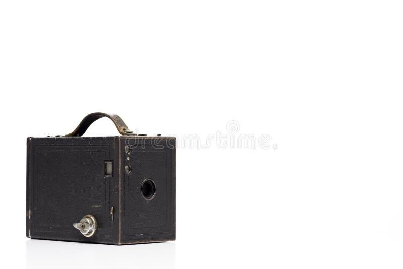 Macchina fotografica dell'annata della scatola immagine stock