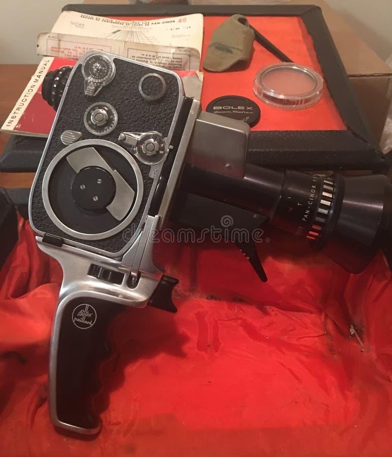 Macchina fotografica dell'annata di Bolex 8mm fotografie stock