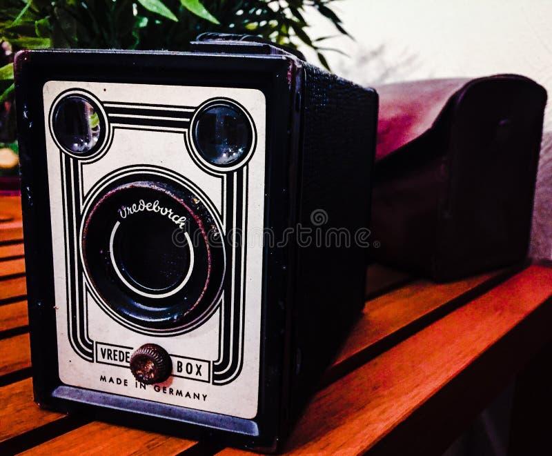 Macchina fotografica dell'annata 35mm SLR immagini stock libere da diritti