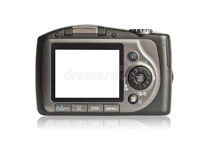 Macchina fotografica della foto su priorità bassa bianca fotografia stock libera da diritti