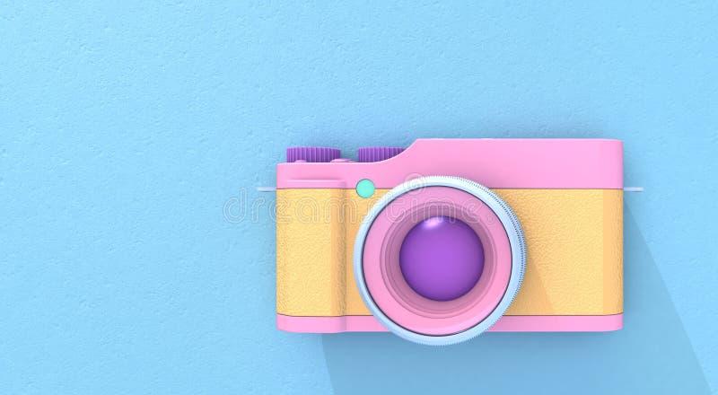 macchina fotografica della rappresentazione 3d illustrazione di stock