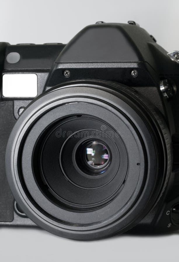 Macchina fotografica dello slr di Digitahi con l'obiettivo a macroistruzione fotografia stock libera da diritti