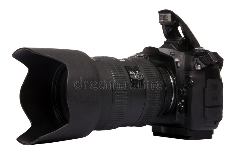 Macchina fotografica di Digitahi DSLR 2 fotografia stock