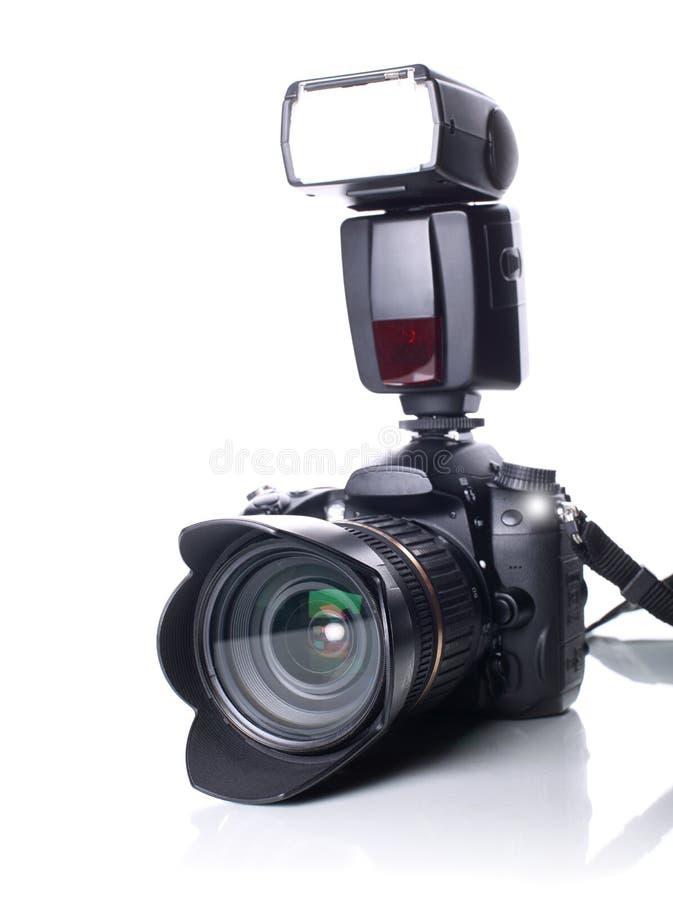 Macchina fotografica di DSLR immagini stock