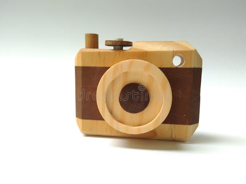 Macchina fotografica di legno fotografie stock libere da diritti