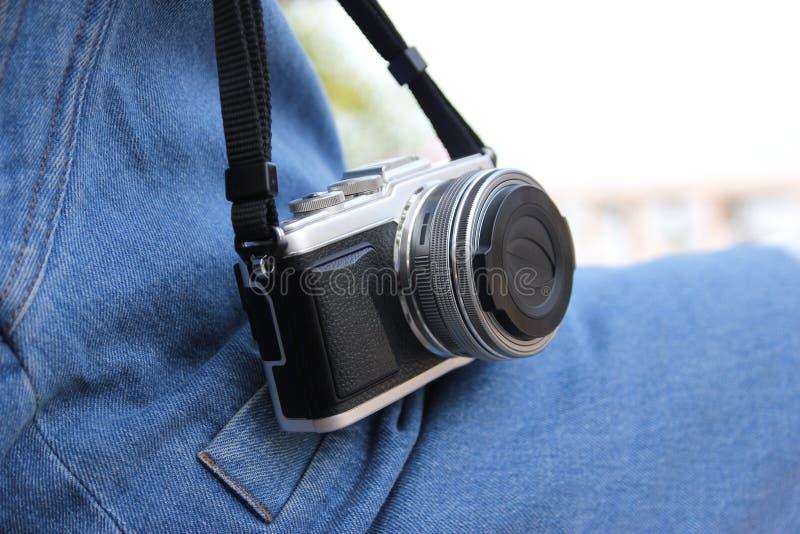 Macchina fotografica di Mirrorless fotografia stock