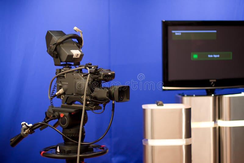 Macchina fotografica di radiodiffusione fotografie stock
