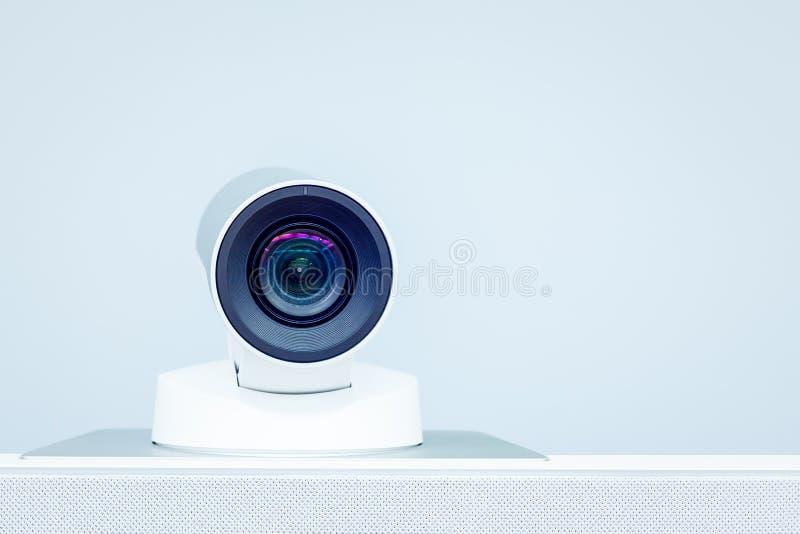 Macchina fotografica di teleconferenza, di videoconferenza e di telepresence fotografie stock libere da diritti