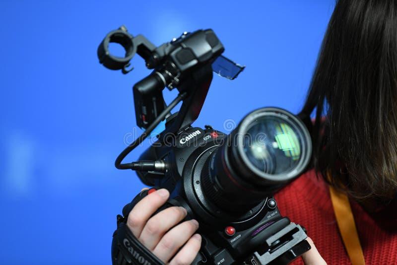 Macchina fotografica digitale professionale di Canon immagine stock libera da diritti