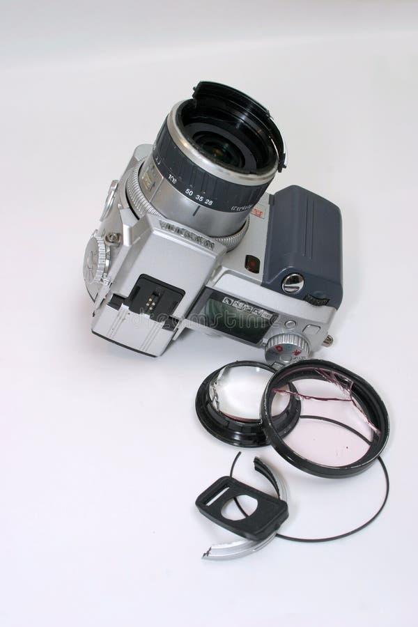 Macchina Fotografica Digitale Rotta Della Foto Fotografia Stock Libera da Diritti