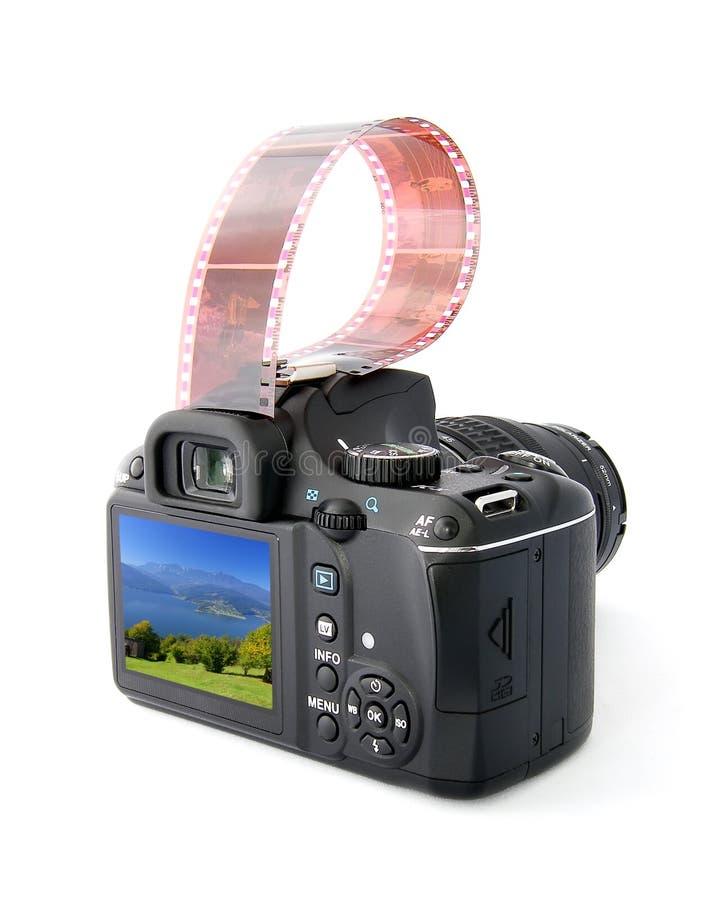 Macchina fotografica e film di Dslr immagine stock libera da diritti