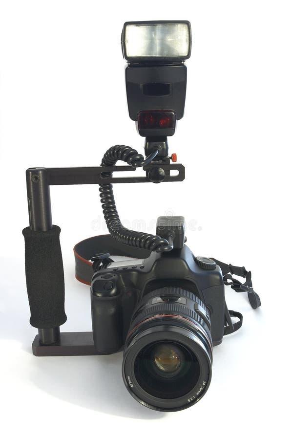 Macchina fotografica e flash 2 immagine stock
