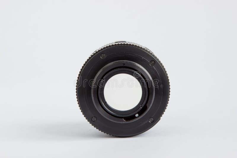 Macchina fotografica Lense per la retro macchina fotografica della foto isolata su un Backgrou bianco immagine stock libera da diritti