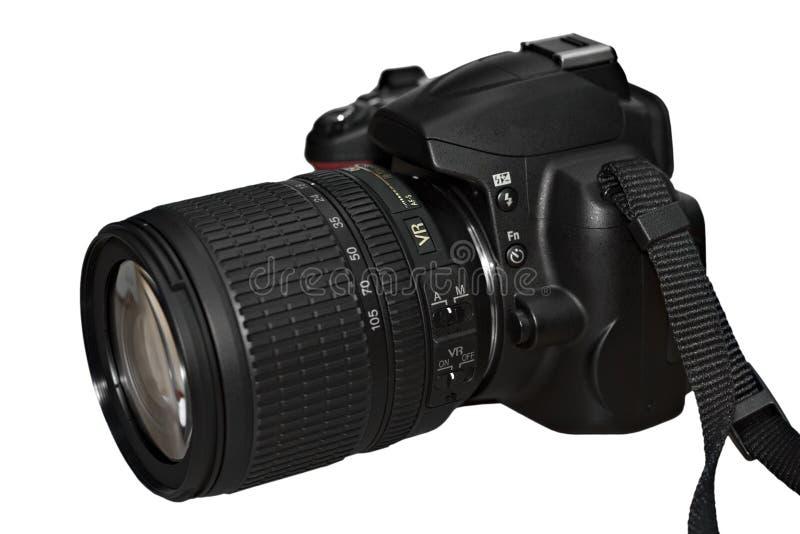 Macchina fotografica reflex dell'singolo-obiettivo di Digitahi immagini stock libere da diritti