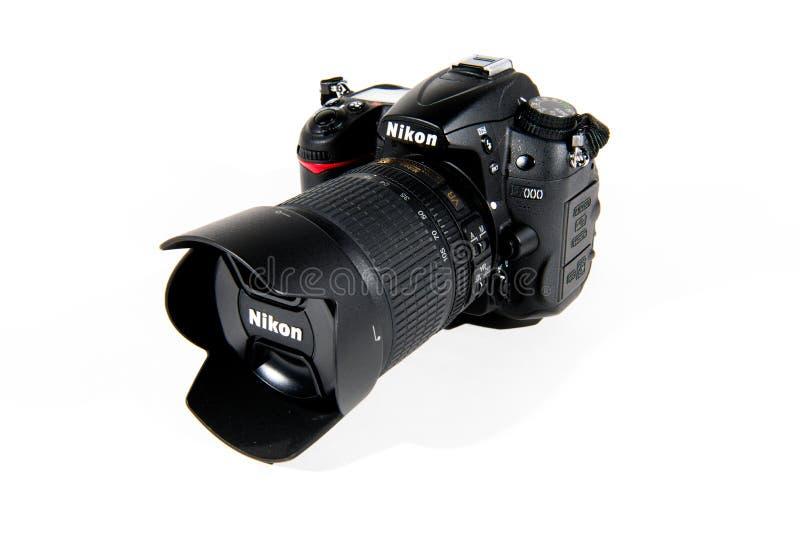 Macchina fotografica reflex della singola lente di Nikon Digital fotografie stock